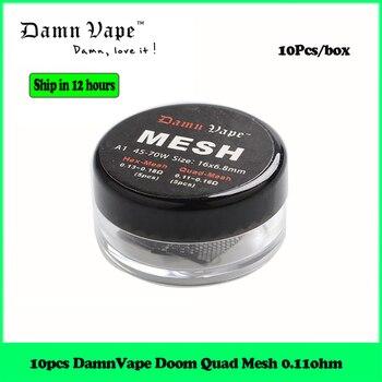 10pcs Replacement Coil DamnVape Doom Quad Mesh Coil 0.11ohm for DamnVape Doom Mesh RTA Tank Atomizer E Cigarette RTA