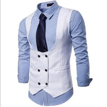 Men's Double-Breasted Tuxedo Vests