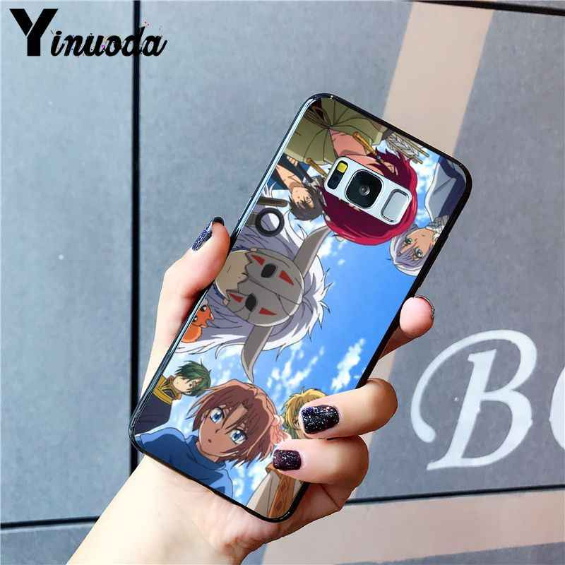 Yinuoda akatsuki logotipo naruto coque caso de telefone para samsung galaxy s9 s10 plus s10e s6 s7 s8 s9 s9plus s5 m10