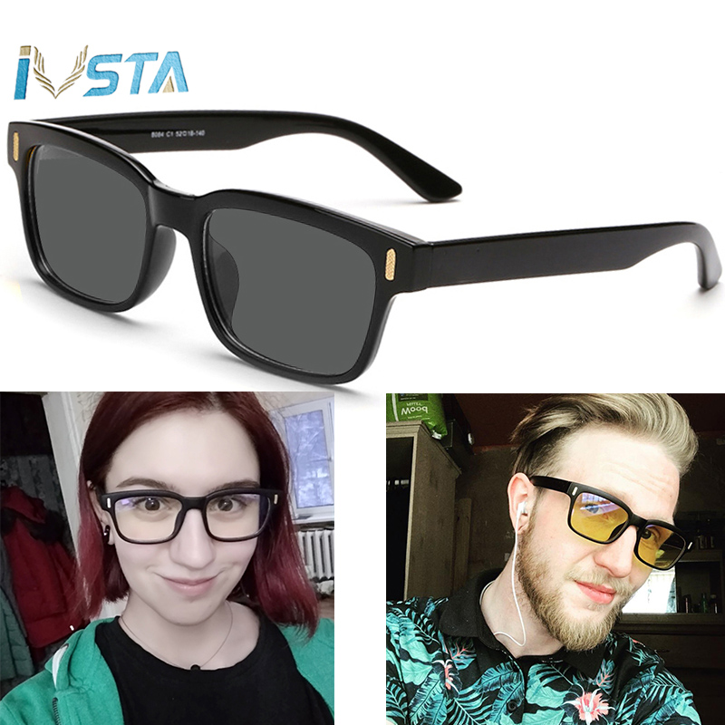 IVSTA Without V Logo Gaming Glasses Blue Light Blocking Glasses For Computer Polarized Sunglasses Men Women Square Rectangle