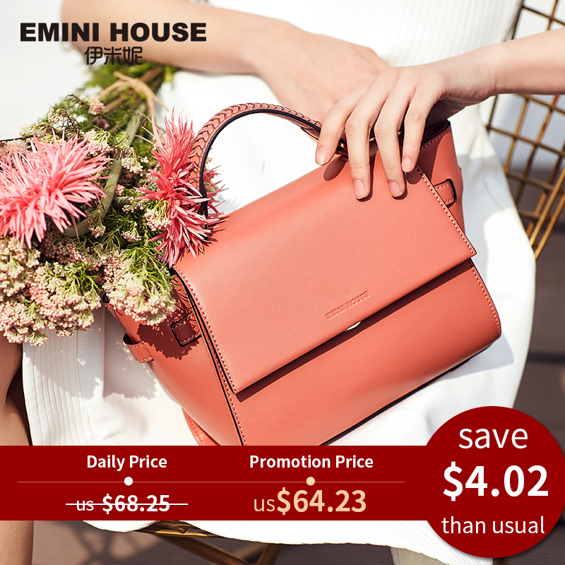 Trapeze Bag Shoulder-Bag Crossbody-Bags Emini House Women Luxury Split for Handbags Designer