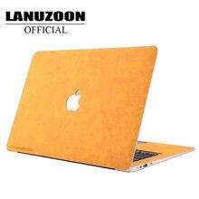Чехол для ноутбука Macbook Air, чехол из искусственной кожи, чехол с сенсорной панелью, чехол для macbook pro 15 pro 13 13,3 Air 15 16, чехол