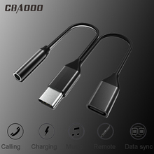 Buy CBAOOO USB Type-C to C type 3.5mm jack headphone audio distributor converter adapter cable for Xiaomi Huawei directly from merchant!