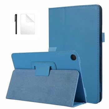 Funda ultradelgada de piel sintética para Huawei MediaPad M5 lite 8 JDN2-W09/AL00, funda con soporte de 8,0 pulgadas para huawei m5 lite 8, carcasa + película + bolígrafo
