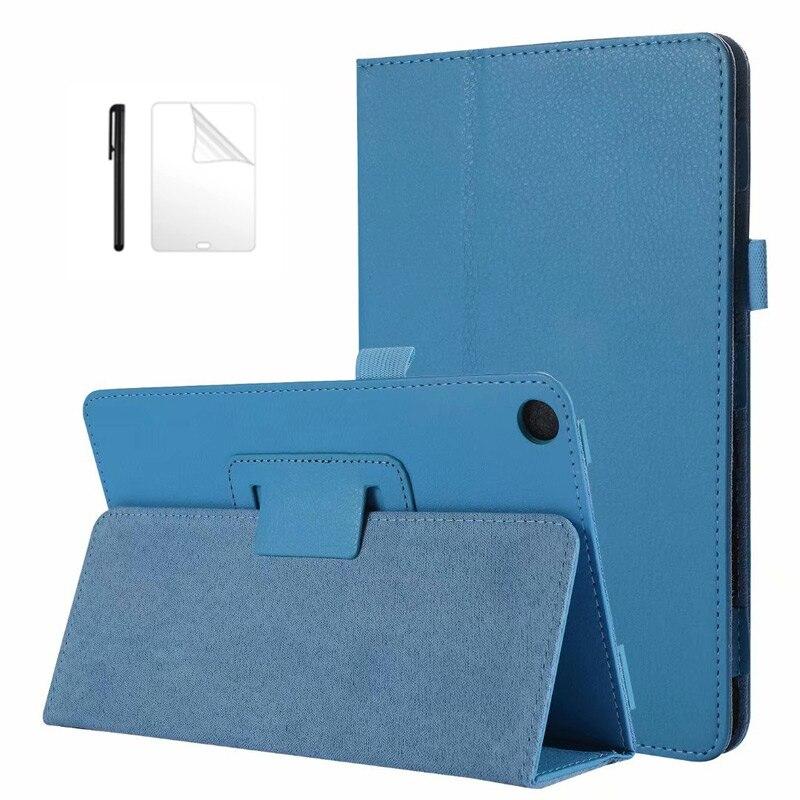 Funda ultradelgada de cuero PU para Huawei MediaPad M5 lite, 8 JDN2-W09/AL00, 8,0 pulgadas, carcasa con soporte para huawei m5 lite 8 + película + bolígrafo