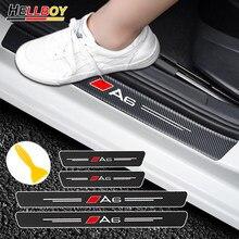 3D Corpo Do Carro De Fibra De Carbono do Peitoril Da Porta Protector Decalques Adesivos Para AUDI c6 c7 A6 S6 A5 8t A4 b8 b6 A3 8p 8v A1 A7 A8 Acessórios