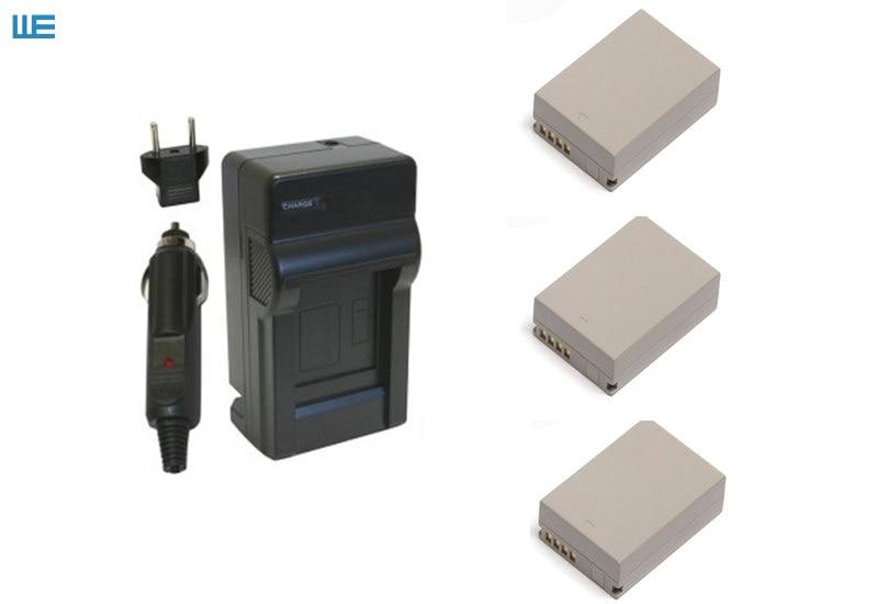 NB-7L, NB7L аккумулятор+ зарядное устройство для цифровой камеры Canon PowerShot G10 G11 G12 SX30 IS - Цвет: Синий