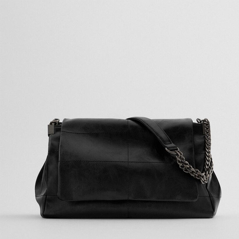 Женские винтажные однотонные кожаные сумки на цепочке, новинка 2020, модные сумки-мессенджеры, Женский кошелек с клапаном и кошелек