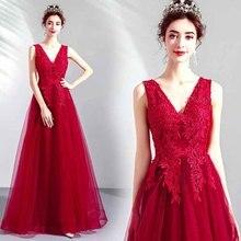 N Роскошные красные вечерние платья с v-образным вырезом на заказ женские свадебные платья ручной работы с вышивкой из страз без рукавов свадебное платье для леди плюс размер 5xl