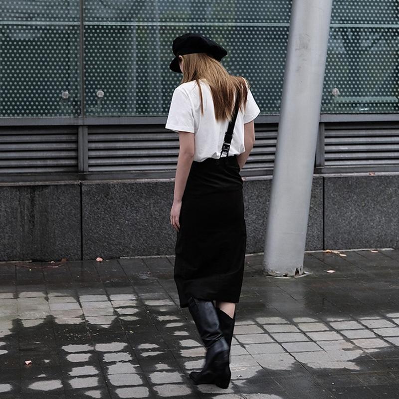 [EAM] Women White Pattern Printed Temperament T-shirt New Round Neck Short Sleeve  Fashion Tide  Spring Summer 2020 1W031 6