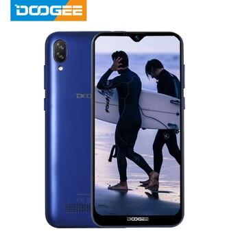 Перейти на Алиэкспресс и купить Сотовый телефон DOOGEE X90 6,1 дюйма, 19:9 экран LTPS с технологией Waterdrop, четырехъядерный смартфон, 16 Гб ОЗУ, 3400 мА/ч, две SIM-карты, 8 Мп + 5 Мп, WCDMA, Android Go