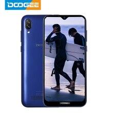 DOOGEE X90 핸드폰 6.1 인치 19:9 물방울 LTPS 스크린 스마트 폰 쿼드 코어 16GB ROM 3400mAh 듀얼 SIM 8MP + 5MP WCDMA Android