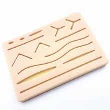 Almofada traumática do modelo do treinamento da sutura da pele de y com equipamento de ensino da prática da sutura do silicone ferido