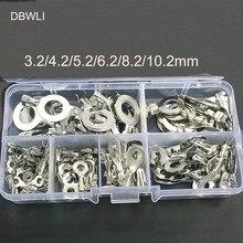 Juego de terminales de Cable de anillo no aislado, Kit de terminales de latón, 150-3,2mm, 6,2 unids/set