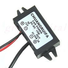 1PC DC 12V to 5V 3A 15W Waterproof Converter Mini USB Car Power Adapter