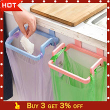 kitchen garbage bag holder 2019TOP Portable Kitchen Trash Bag Holder Incognito Cabinets Cloth Rack Towel Rack G90530(China)