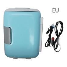 New 4 Liter Portable Compact Personal Fridge Cools & Heats Great for Bedroom Office Car Dorm Portable Makeup Skincare Fridge