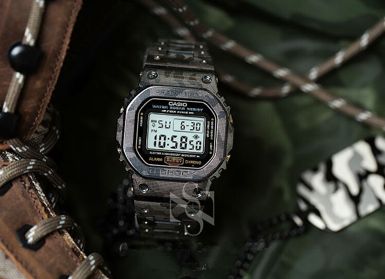 High Quality! Titanium Camouflage Watch Bezel And Band For 5610 GW-M5610 Model Generic