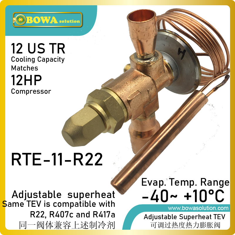12TR R22 TEV/TX offers mechanical thermal expansion valves and electronic expansion valves for a variety of HVAC-R applications
