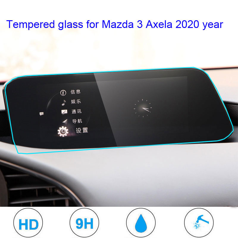 For Mazda 3 Axela 2020 GPS Navigation Screen Tempered Glass Protective Film Screen HD Display Film Sticker Anti Scratch
