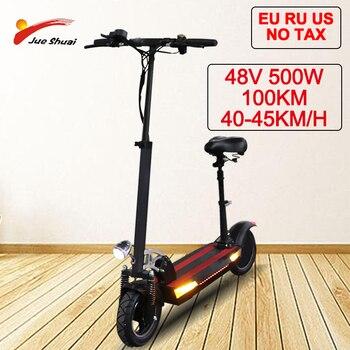48V 800W Scooter Eléctrico 26AH batería de litio alta velocidad plegable Scooters eléctricos adultos con asiento Patinete eléctrico Adulto