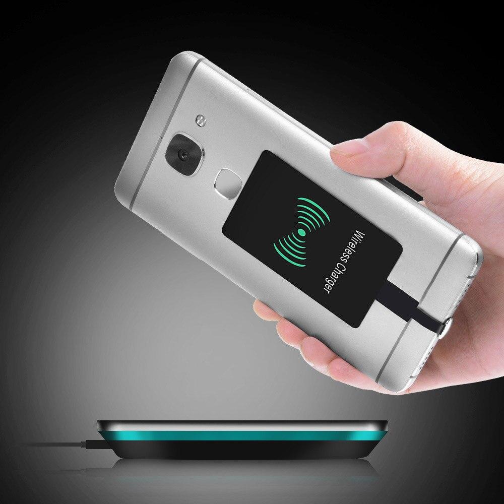 Qi Беспроводное зарядное устройство приемник Индукционная зарядка адаптер для samsung Note 4 5 S4 S5 IPhone 7 6 6S Plus SE 5S Android usb type C