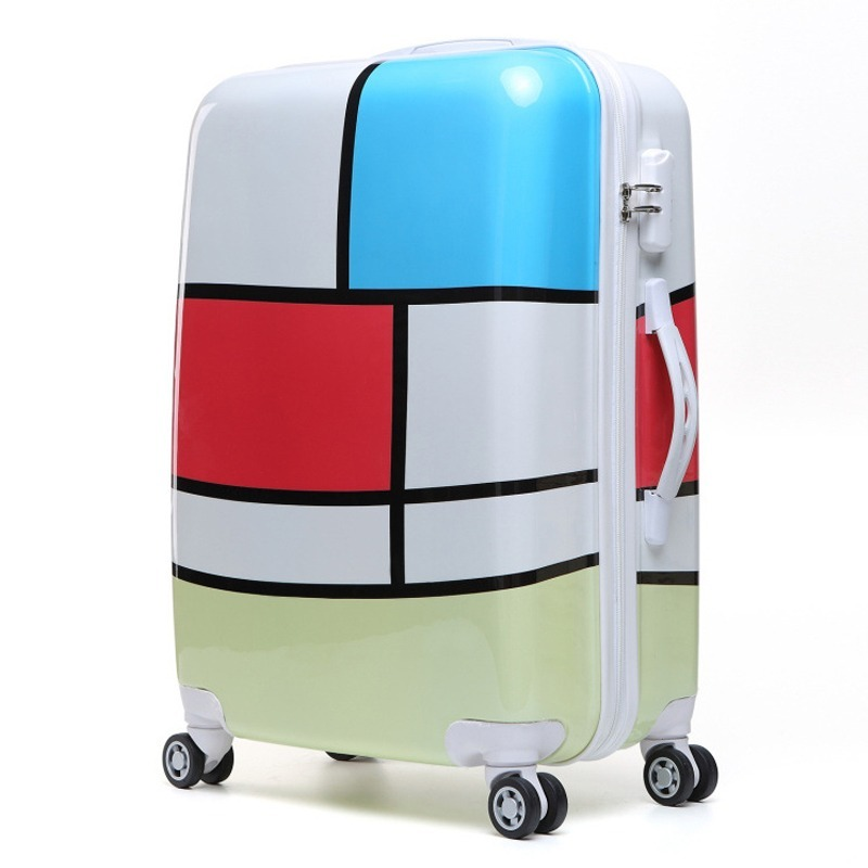 Women Travel Luggage Case Spinner Suitcase Men Rolling Case On Wheels 20/22/24/26 Inch Lady Travel Wheeled Suitcase Trolley Bag