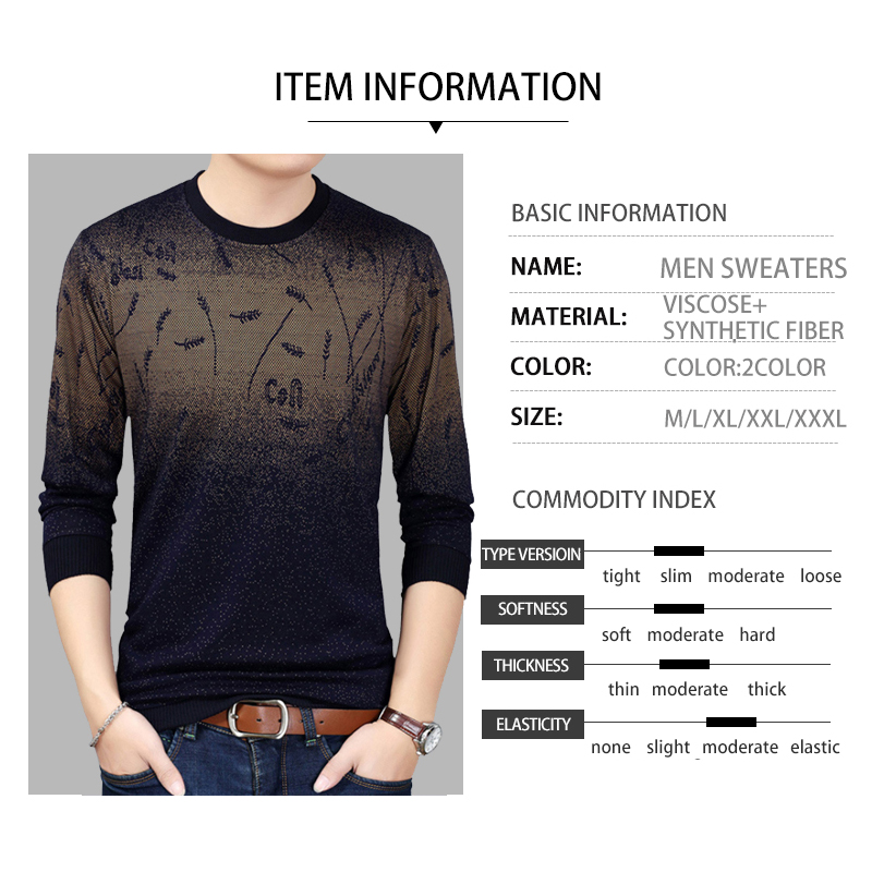 Mens Sweaters for 2019 Pullover Flower Sweater Mensthin Jersey Knitted Sweaters Mens Wear Slim Fit Knitwear Fashion Men Clothing