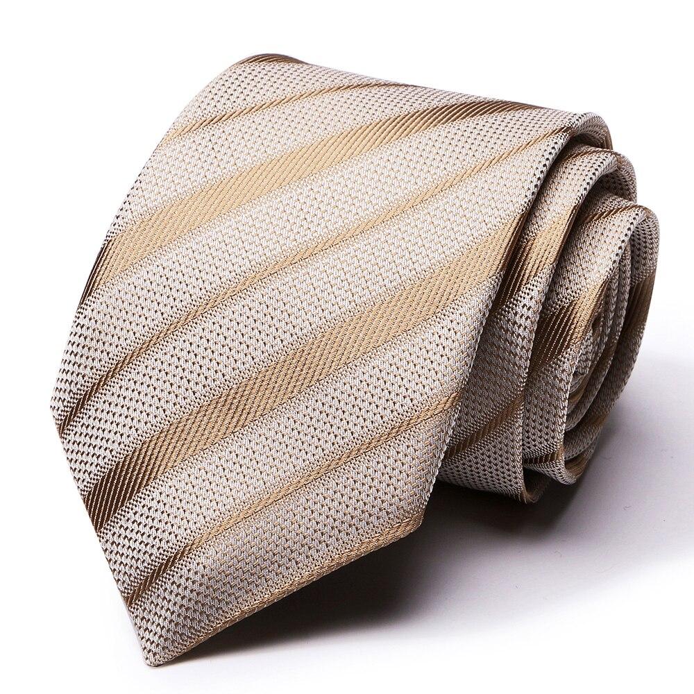 Мужской галстук в полоску 7,5 см, 100% шелк, галстуки для мужчин, деловой галстук, Свадебный галстук, модные клетчатые бизнес аксессуары