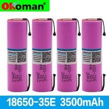 100% Оригинальный литий-аккумулятор 35E 3,7 В 3500 мАч 18650 для электроинструмента, никелированный аккумулятор