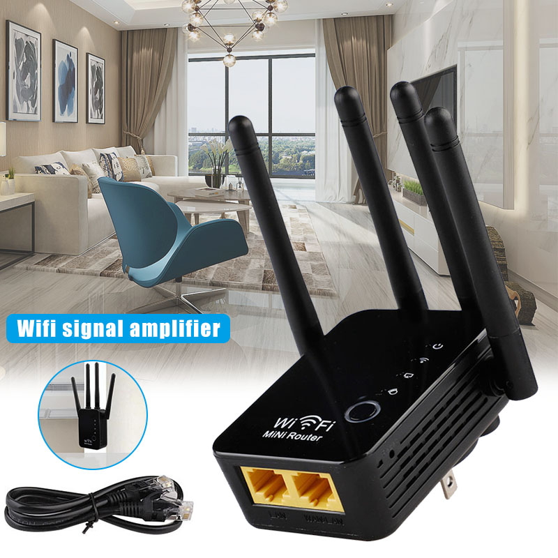 Mini Wifi Wireless Router Repeater Signal Amplifier Range Extender 300Mbps Home VDX99