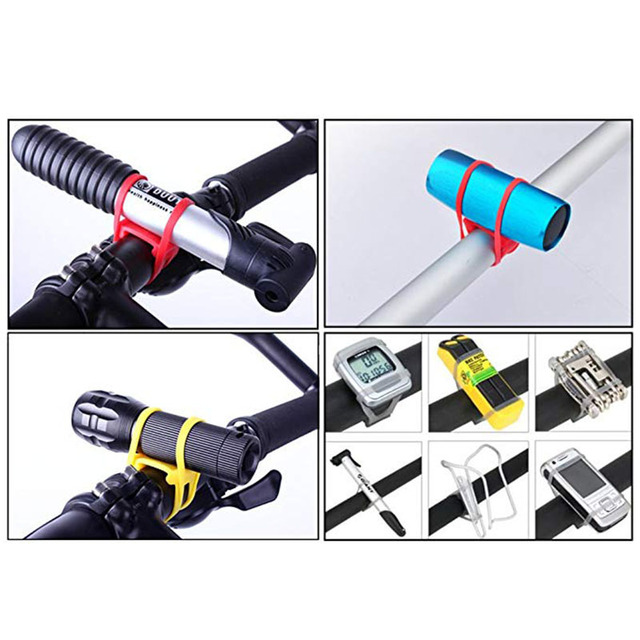 Bicicleta de silicone banda flash luz lanterna cinta do telefone gravata fita montagem titular ciclismo acessórios 3