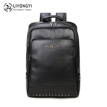 New Style Pu Backpack Korean-style Computer MENS Bag WOMENS-Style Fashion Casual Travel