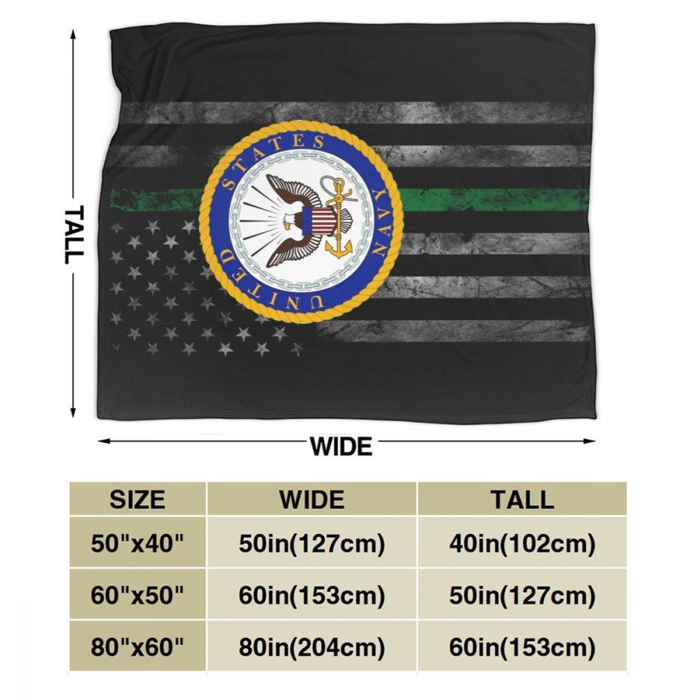 US Navy Department Seal Ultra Soft Cozy Throw Lightweight Micro Flannel Fleece Sofa All Season Living Room/Bedroom Warm Blanket-2