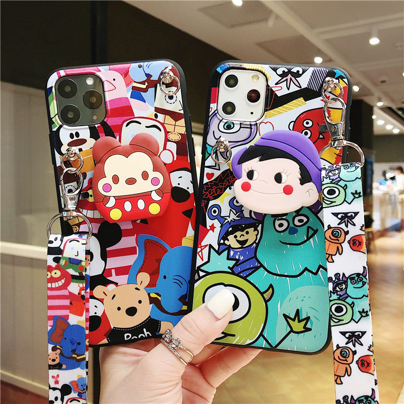 Soft <font><b>Cases</b></font> For <font><b>OPPO</b></font> A3 A3S A5 A7 A37 A39 A57 A59 <font><b>A71</b></font> A77 A83 A79 A7X A9 2020 Realme 3 Pro C2 Monsters Minnie <font><b>Phone</b></font> Stand Cover image