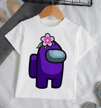 Novo jogo entre os eua dos desenhos animados t camisa para crianças verão menino roupas moda topo t crianças all-match para meninos roupas 24m-9t anos