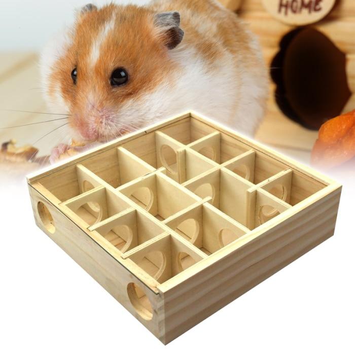 Animais de estimação hamster de madeira labirintos