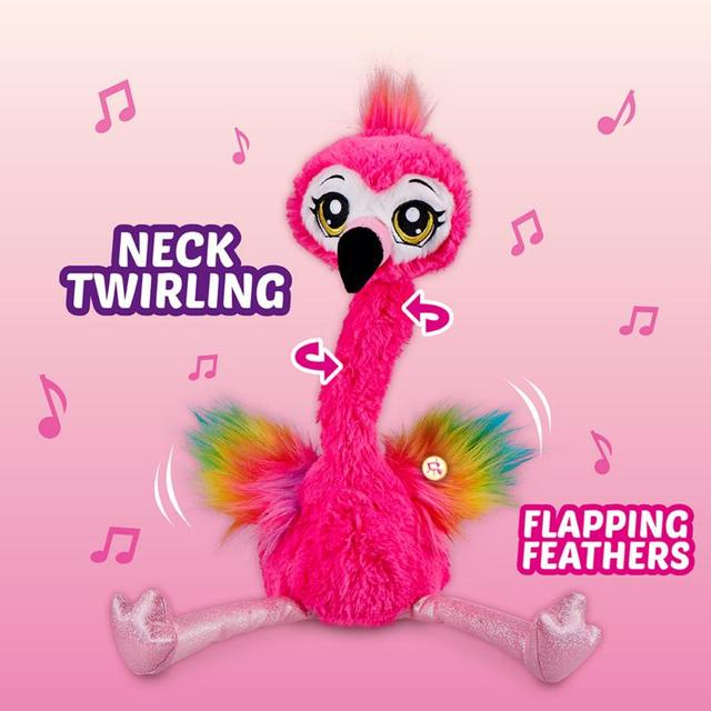 Pets Alive Frankie The Funky Flamingo Battery-Powered Dancing Robotic Toy By Zuru Collectible Toy Anime Figure Toys Gift 5