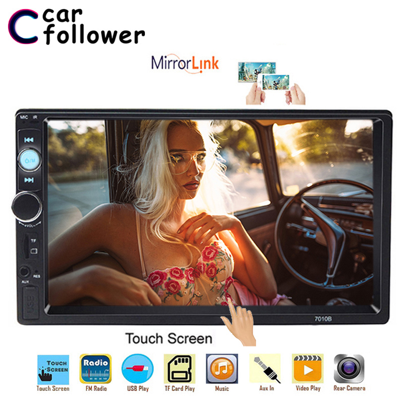 2 Din Car Radio In Dash Universal 7 inch Bluetooth Auto Stereo Autoradio Touch Screen MP5 Support Rear View Camera Mirror Link