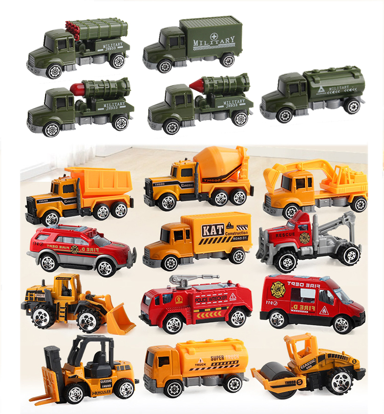 Mini Engineering Car  Toys Truck Model Alloy Car Children Toys Vehicle  Pocket Toy Birthday Present Gift