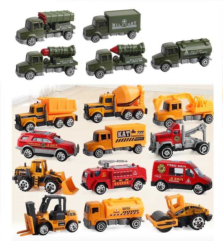 Mini Engineering Car  Toys Truck Model Alloy Car Children Toys Vehicle  Pocket Toy Birthday Present Gift