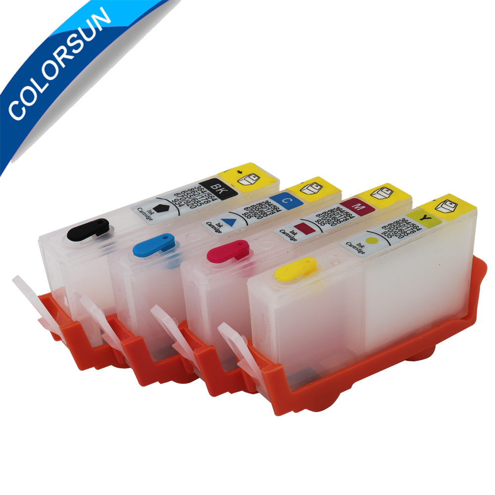 4pcs <font><b>Refillable</b></font> Ink <font><b>Cartridge</b></font> For HP655 <font><b>HP</b></font> <font><b>655</b></font> for <font><b>HP</b></font> Deskjet 3525 4615 4625 5525 6525 <font><b>cartridge</b></font> with ARC chips image