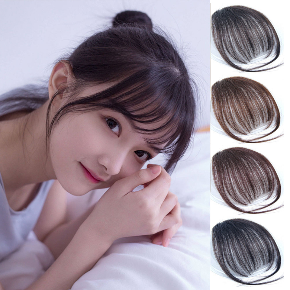 For Women Fake Bangs Extensions Synthetic High Temperature Clip On Fringe Hair Clips Brown Blonde Fashion Bangs Accessories
