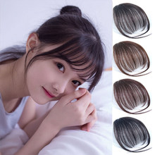 For Women Fake Bangs Extensions Synthetic High Temperature Clip On Fringe Hair Clips Brown Blonde Fashion Bangs Accessories(China)