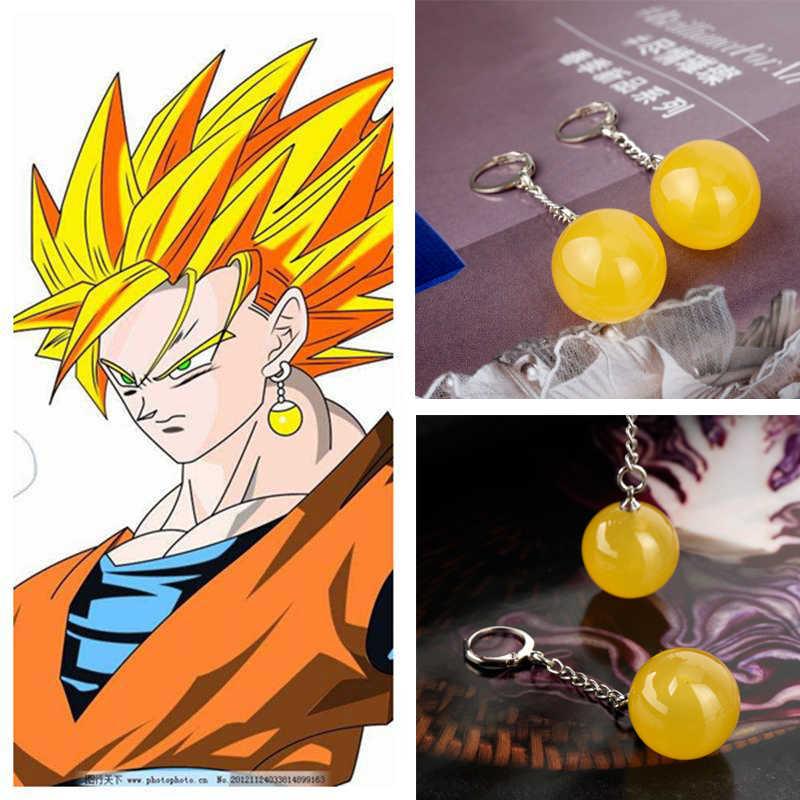 Dragon Ball Z Drop Oorbellen Takerlama Dragonball Vegetto Potara Oorbellen Zoon Goku Zamasu Oorbellen voor Vrouwen Mannen Sieraden