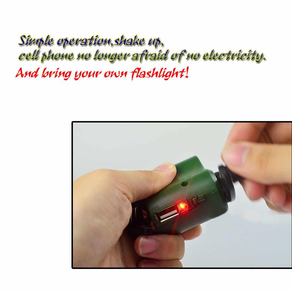 اليد متعرجا الطوارئ شاحن USB كرنك اليد دليل دينامو ل MP3 MP4 شاحن جوّال USB باور ربنك لشحن الهاتف الخليوي PDA الطوارئ شحن