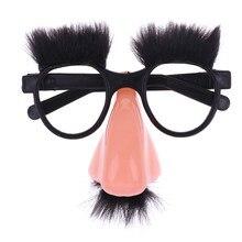 Novidade brinquedo nariz grande engraçado óculos brinquedos barra de festa engraçado piadas piadas acessório prop halloween complicado decoração das crianças presente