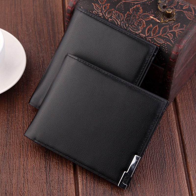 2019 Ultra-thin Short Sequined Men Wallets with Coin Bag Black Purse Men Wallet Male Small Money Dollar Slim Card Case Carteira 2