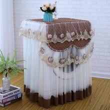 Романтическая кружевная Крышка для стиральной машины Пылезащитная вышивка цветочный Декор для дома Защитная крышка для стиральной машины 60*60*85 см
