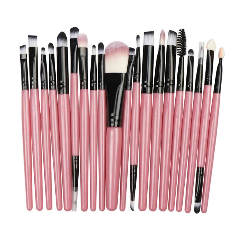 Anmor 20Pcs Makeup Brushes Set Make Up Brushes Foundation Powder Eyeliner Eyeshadow Eyelash Brush Cosmetic pinceaux maquillage in Eye Shadow Applicator from Beauty Health